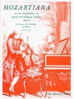 Mozartiana Leopold & Wolfgang Mozart Partition laflutedepan