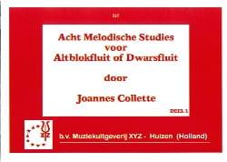 Acht Melodische Studies Volume 1 Joannes Collette laflutedepan