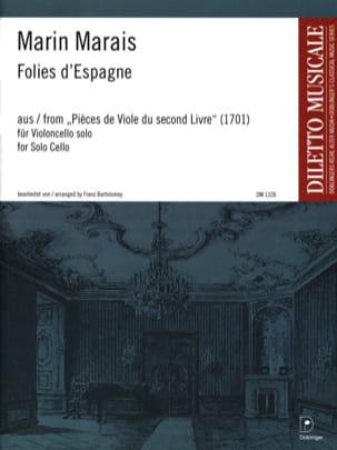 Folies d'Espagne Marin Marais Partition Violoncelle - laflutedepan