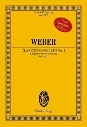 Carl Maria von Weber - Clarinet Concerto No. 1 - Conductor - Partition - di-arezzo.com