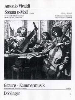 Sonate Nr. 5 E-Moll VIVALDI Partition 0 - laflutedepan