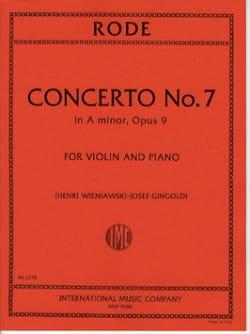 Concerto n° 7 op. 9 la mineur Pierre Rode Partition laflutedepan