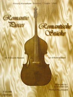 Romantic pieces - 4 Double basses Franz Pillinger laflutedepan