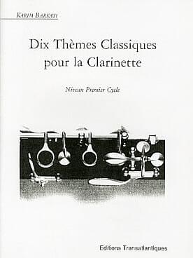 10 Thèmes classiques pour la clarinette Partition laflutedepan