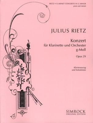 Clarinet Concerto Op. 29 Julius Rietz Partition laflutedepan