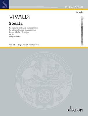 Sonate F-Dur RV 52 -Altblockflöte u. Bc - VIVALDI - laflutedepan.com