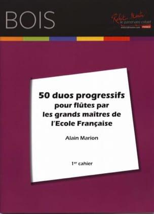 50 Duos progressifs pour flûtes Alain Marion Partition laflutedepan