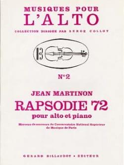 Rapsodie 72 Jean Martinon Partition Alto - laflutedepan