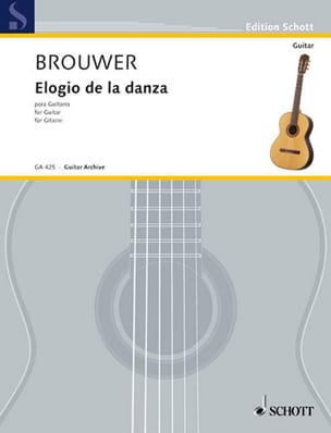 Elogio de la danza BROUWER Partition Guitare - laflutedepan