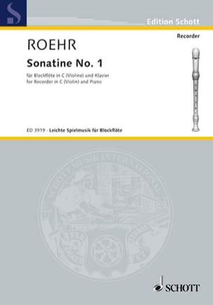 Sonatine Nr. 1 F-Dur - C-Blockflöte Walter Roehr laflutedepan