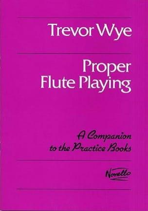 Proper flute playing Trevor Wye Partition laflutedepan