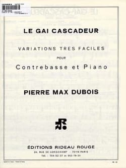Le Gai Cascadeur Pierre-Max Dubois Partition laflutedepan