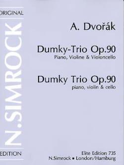 Dumky Trio op. 90 -Stimmen DVORAK Partition Trios - laflutedepan