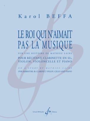 Le Roi qui n'aimait pas la Musique Karol Beffa Partition laflutedepan