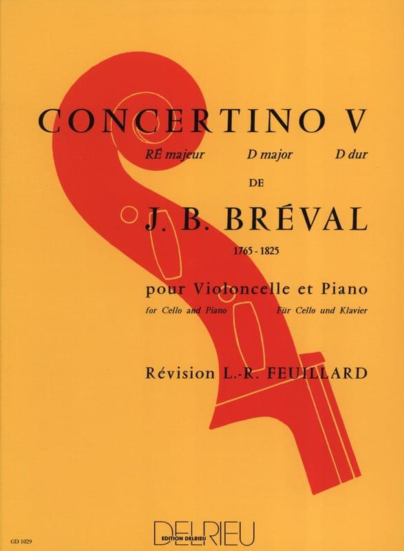 Concertino n° 5 en Ré Majeur - Jean-Baptiste Bréval - laflutedepan.com