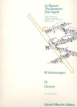 12 Canons Marc Vaubourgoin Partition Basson - laflutedepan