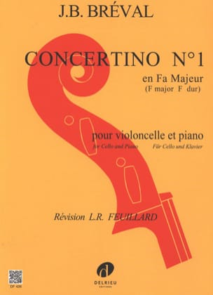 Jean-Baptiste Bréval - Concertino n. ° 1 en Fa mayor - Partition - di-arezzo.es