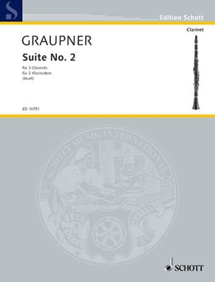 Suite N° 2 Christoph Graupner Partition Clarinette - laflutedepan