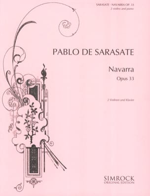 Navarra op. 33 -2 Violinen Klavier SARASATE Partition laflutedepan