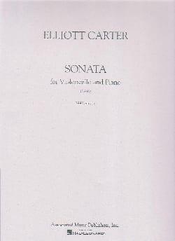 Sonate - Violoncelle et piano Elliott Carter Partition laflutedepan