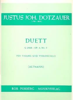 Duett G-Dur op. 4 n° 2 - Friedrich Dotzauer - laflutedepan.com