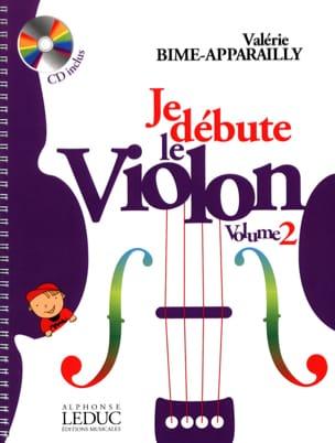 Je débute le Violon - Volume 2 Valérie Bime-Apparailly laflutedepan