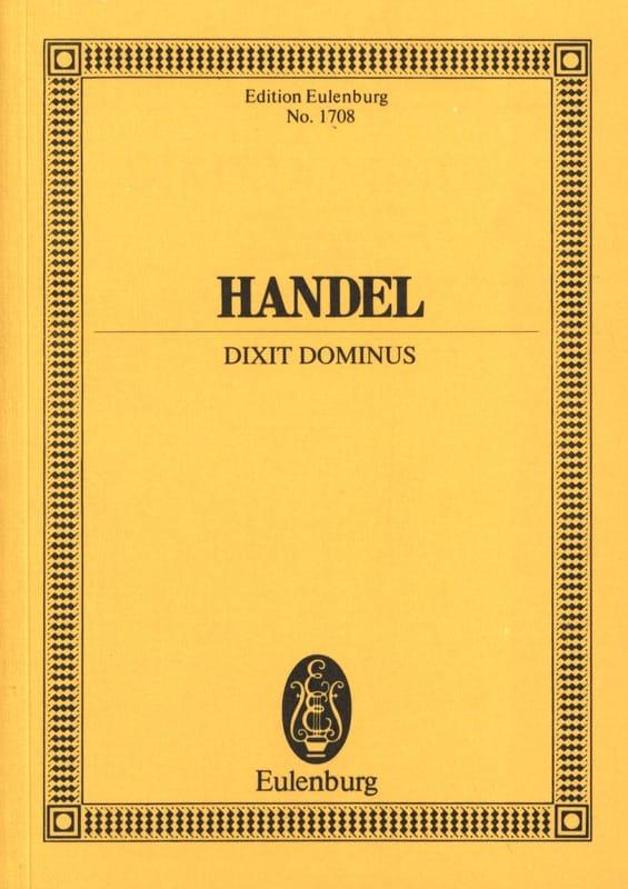 Dixit Dominus - HAENDEL - Partition - Petit format - laflutedepan.com