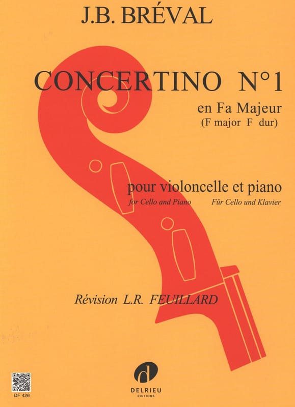 Concertino n° 1 en Fa Majeur - Jean-Baptiste Bréval - laflutedepan.com