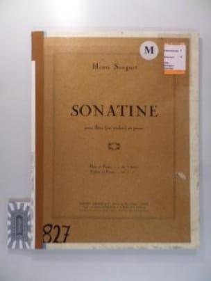 Sonatine - Flûte ou violon et piano - Henri Sauguet - laflutedepan.com
