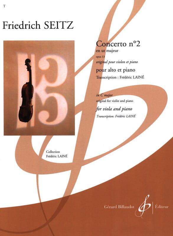 Concerto n° 2 - Alto et Piano - Friedrich Seitz - laflutedepan.com