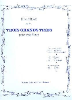 3 Grands trios op. 86 - n° 1 - 3 Flûtes Friedrich Kuhlau laflutedepan
