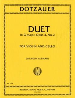 Duet in G major, op. 4 n° 2 Friedrich Dotzauer Partition laflutedepan