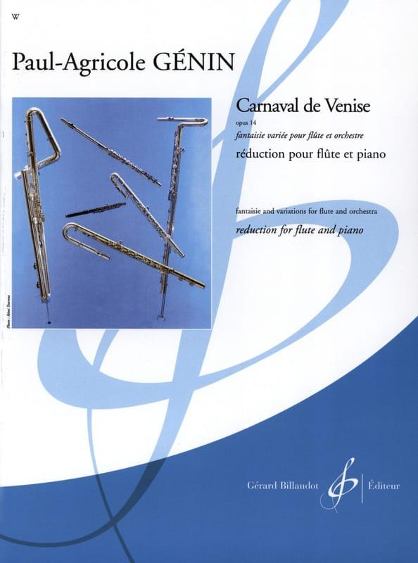 Carnaval de Venise op. 14 - Flûte piano - laflutedepan.com