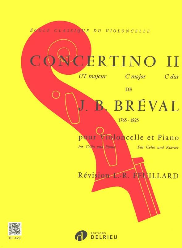 Concertino n° 2 en Ut Majeur - Jean-Baptiste Bréval - laflutedepan.com
