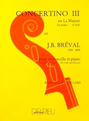 Jean-Baptiste Bréval - Concertino n. ° 3 en The Greater - Partition - di-arezzo.es