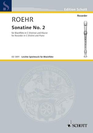 Sonatine Nr. 2 F-Dur - C-Blockflöte - Walter Roehr - laflutedepan.com