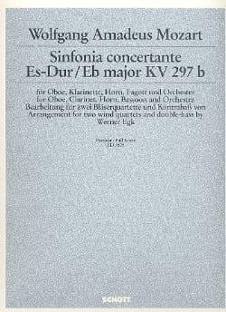 Sinfonia Concertante Mib M. Kv 297b-P.O. MOZART Partition laflutedepan
