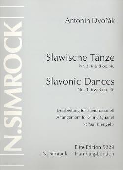 Slawische Tänze Nr. 3, 6 u. 8 op. 46 -Streichquartett - Stimmen laflutedepan