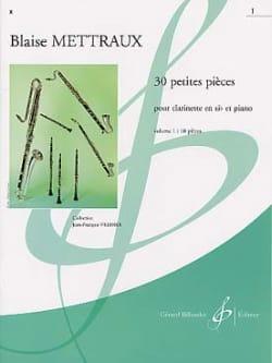 30 Petites pièces - Volume 1 Blaise Mettraux Partition laflutedepan
