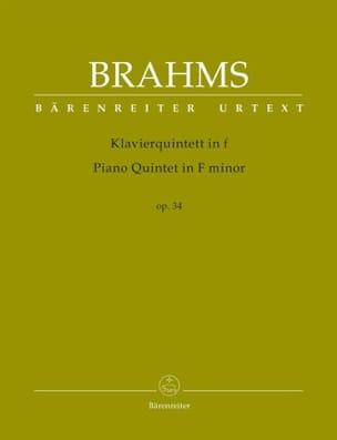Quintette en fa mineur, op. 34 BRAHMS Partition laflutedepan