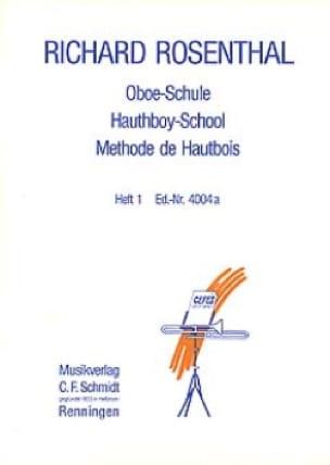 Méthode de hautbois - Volume 1 - Richard Rosenthal - laflutedepan.com