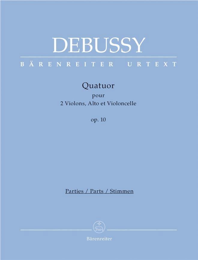 Quatuor A Cordes Op. 10 - DEBUSSY - Partition - laflutedepan.com