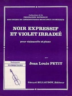 Noir expressif et violet irradié Jean-Louis Petit laflutedepan