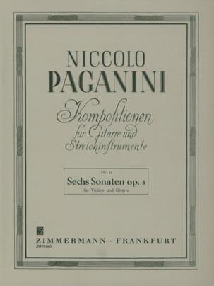 6 Sonaten Op. 3 - Violine Gitarre PAGANINI Partition 0 - laflutedepan
