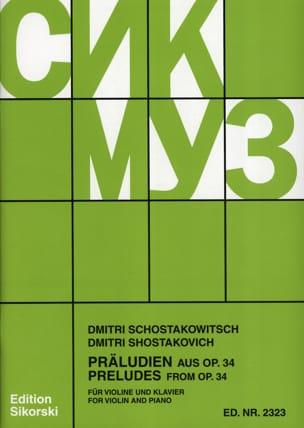 Präludien aus op. 34 CHOSTAKOVITCH Partition Violon - laflutedepan