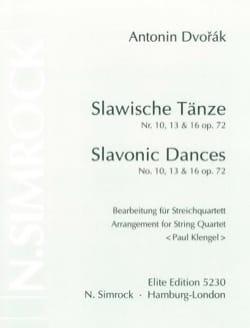 Slawische Tänze Nr. 10,13 u.16 op. 72 -Streichquartett - Stimmen laflutedepan