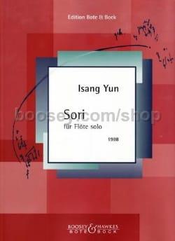 Sori - Flöte solo Isang Yun Partition Flûte traversière - laflutedepan