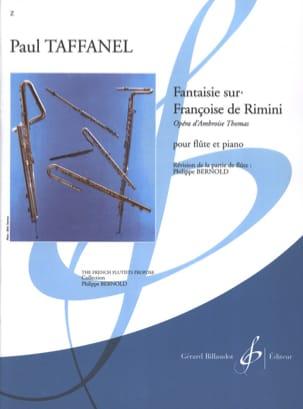 Fantaisie Sur Françoise de Rimini Paul Taffanel Partition laflutedepan