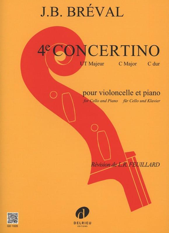 Concertino n° 4 en Ut Majeur - Jean-Baptiste Bréval - laflutedepan.com