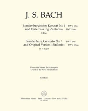 Brandenburgisches Konzert Nr. 1 F-dur, BWV 1046 - Matériel complet - laflutedepan.com